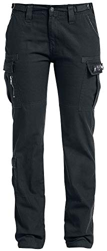Black Premium by EMP Army Vintage Trousers Frauen Cargohose schwarz W27L32