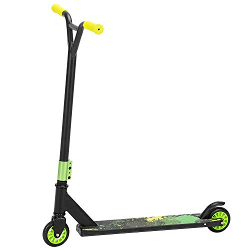 JOYMOR Trick Scooter Freestyle Kick Scooter for Teens and Adults Stunt Scooters for Kids 8 Years and Up, Beginner Pro Scooters for Boys and Girls (Green)