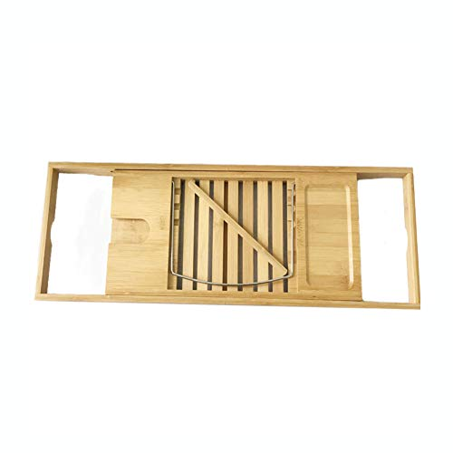 DONG Naturel Eco-Friendly Bambou Baignoire Caddy Plateau, Bamboo Baignoire Caddy, sans Assemblage,Natural