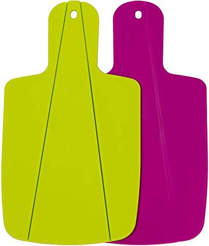Kitchen Helpis® Schneidebrett, faltbares-Schneidebrett, Küchenbrett, Klappbares-Schneidebrett, Brettchen (Grün & Pink)