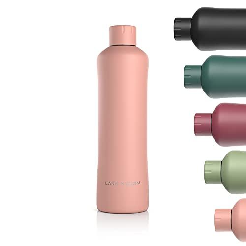LARS NYSØM Bottiglia da Bere in Acciaio Inox 1000ml | Bottiglia isolata Senza BPA da 1 litro | Bottiglia d'Acqua a Prova di perdite per Sport, Bici, Cane, Cane, Bambino, Bambini | Thermos