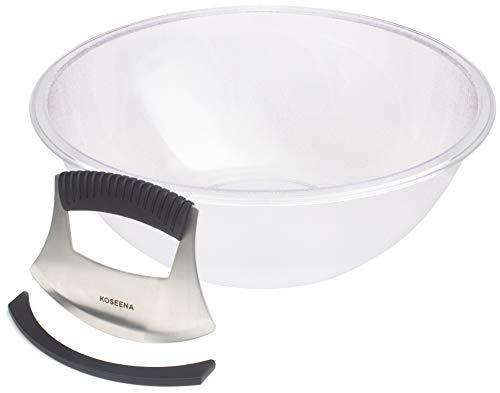 Koseena-Salad Chopper and Bowl-Durable Bowl-Sharp Blade Cuts Hard Veggies-Chopped Salad Bowl and Chopper-Salad Cutter-Salad Maker-Vegetable Slicer