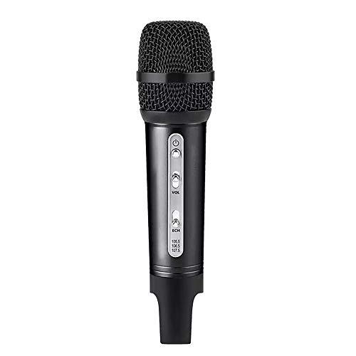 Microfoon voor karaoke Bluetooth draadloze FM en microfoon voor autoradio's mini volume vrij instelbaar compatibel met verschillende software app en tablet smartphone