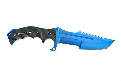 FADECASE Huntsman Elite - Blue Steel - Echte Stahlmesser von Counter Strike Global Offensive mit Ihren Bevorzugten Skins in CSGO