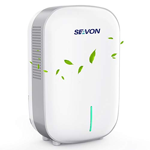SEAVON Dehumidifier Small Dehumidifiers for Home 2200 Cubic Feet (260 sq ft), Portable and Compact 27 oz Capacity Quiet Dehumidifiers for Basements, Bedroom, Bathroom, RV, Closet, Auto Shut Off