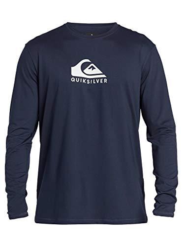 Quiksilver Camiseta de manga larga para hombre con protección solar UPF 50 - azul - Small