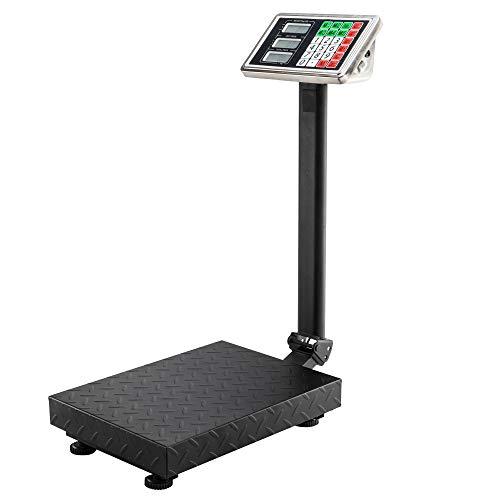 Kuke Parcel Scales 100KG/220lbs with Bracket Heavy Duty LED Digital Platform Postal Parcel Scales