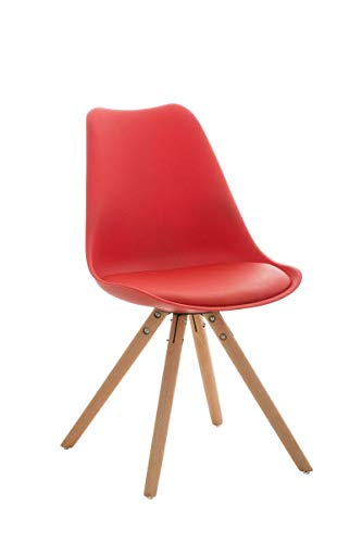 GXK Design Besucherstuhl Natura Retro Stuhl Konferenz Wartestuhl Loft Chair (Color : Rot)