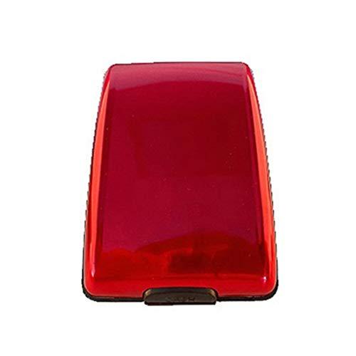 Anti RFID Anti-Theft Hanging Neck ID Bag Card Purse Bolsa de Almacenamiento de Viaje Cartera (Rojo)