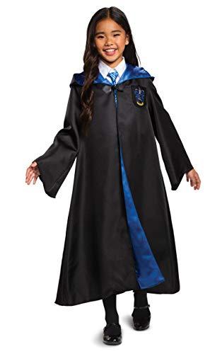Disfraz de Harry Potter Ravenclaw de Lujo para Disfraz Infantil, Color Negro y Azul, tamaño pequeño (4-6)