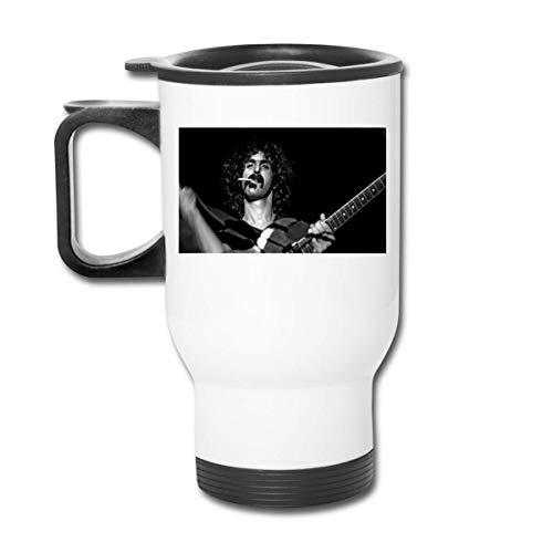 Taza de acero inoxidable para coche, antideslizante, taza de viaje para guitarrista eléctrico Frank Zappa, taza de viaje
