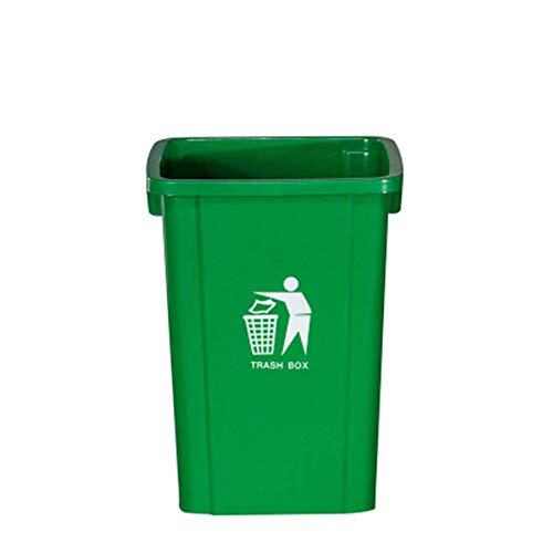 HoGau Cuisine Maison Duurzame 60L Plastic Coverless Prullenbak Bodem Anti-slip Vuilnisbakken Buiten Vuilnisbak Bin Voor KTV Villa Woonkamer Binnenplaats Keukenkast Lade