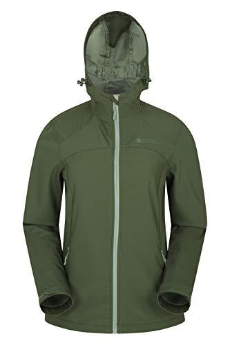 Mountain Warehouse Egress Softshell-Jacke für Damen – leicht, atmungsaktiv, verstellbare Funktionen, Reißverschlusstaschen – ideal geeignet für Wandern, Outdoor, Walking Khaki 34