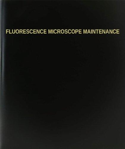 BookFactory Fluorescence Microscope Maintenance Log Book/Journal/Logbook - 120 Page, 8.5'x11', Black Hardbound (XLog-120-7CS-A-L-Black(Fluorescence Microscope Maintenance Log Book))