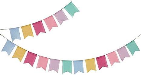 G2PLUS Guirlande Fanion Jute Banni/ère Banderole de Toile de Jute 4M Jute Tissu Drapeau Fanion Guirlandes Tissu Vintage /Él/égant D/écor De Mariage Rustique Multicolor