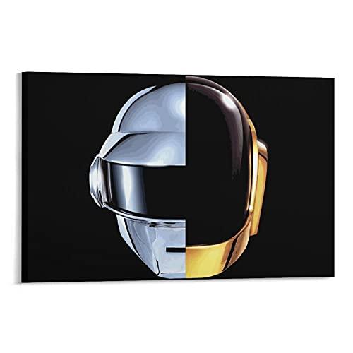 Póster Decorativo Con Casco Daft Punk, Su Tela 1 Pintura Lienzo Arte Pared 30x45cm