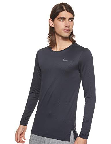 NIKE M NK Dry Top LS Slim Camiseta de Manga Larga, Hombre, Negro (Black/Dark Grey), L