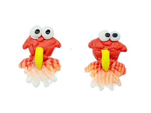Pendientes Miniblings Goldfish Koi de los pescados arcilla del polímero Naranja - hechos a mano pendientes de joyería de moda pendientes conecto