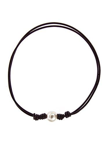 Córdoba Jewels   Gargantilla en Plata de Ley 925. Diseño Perlas Clasic Negro