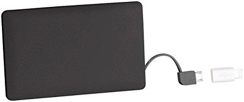 reVolt Ultraslim-Powerbank: Powerbank im Kreditkarten-Format, 2.500 mAh, Micro-USB & 8-Pin-Adapter (Powerbank Checkkarte)