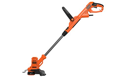 BLACK+DECKER BESTA525-QS Coupe-bordures filaire - Vitesse de coupe variable Eco-Turbo 450W, Noir, 25 cm