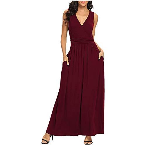 GLZBD 2021 - Vestido de noche elegante, sexy, vestido largo de verano, bohemio, vestido de cóctel, falda larga, vestido de ceremonia Vin4 M