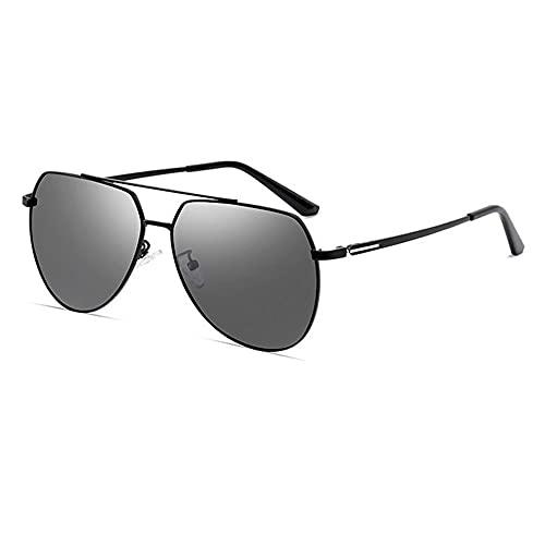 Gafas De Sol Para Hombre Gafas De Sol Para Hombres Que Conducen Gafas De Sol Que Cambian De Color Gafas Para Hombres Día Y Noche Ojos De Doble Uso Espejo De Conducción Polarizado ( Color : Black )
