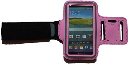 Brazalete deportivo resistente al agua para Samsung Galaxy S4 / S5 / S6 / S7 / S10e Fitness - Funda para teléfono móvil con conector para auriculares, color rosa