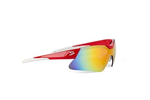 Spiuk Mamba - Gafas de Ciclismo Unisex, Color Rojo/Blanco