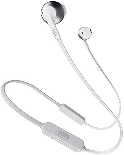 JBL Tune205BT Bluetooth Kopfhörer in Silber – Wireless Headphones mit 3-Tasten-Fernbedienung und Mikrofon – Ohrhörer für bis zu 6 Stunden Musik mit einer Akkuladung