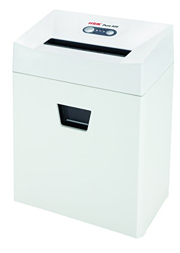 Great Features Of HSM 3.9 x 30 mm Pure 320 Security Level Cross Cut Document Shredder with Capacity ...