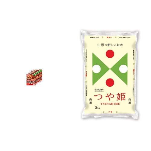 味の素 Cook Do (中華合わせ調味料) あらびき肉入り赤麻婆豆腐用 中辛 140g×5個 +  【精米】山形県産 白米 つや姫 5kg 令和元年産