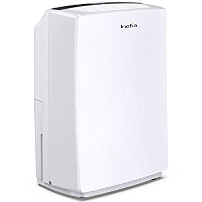Inofia 30 Pint Dehumidifier for 1500 SQ FT Home Basements, Bedroom, Bathroom, Garage, Office, Compact Electric Dehumidifiers for Quiet & Efficient Intelligent Humidity Control on Small/Medium Rooms from Inofia