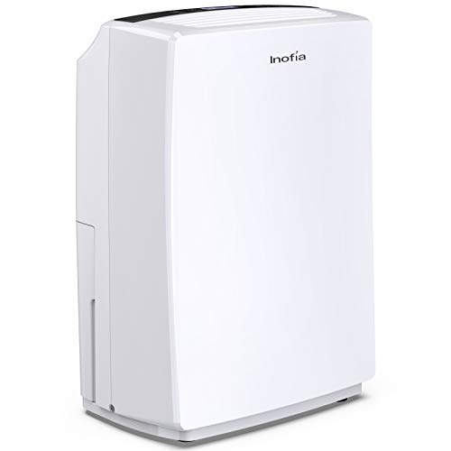 Inofia 30 Pint Dehumidifier for 1500 SQ FT Home Basements, Bedroom, Bathroom, Garage, Office, Compact Electric Dehumidifiers for Quiet & Efficient Intelligent Humidity Control on Small/Medium Rooms