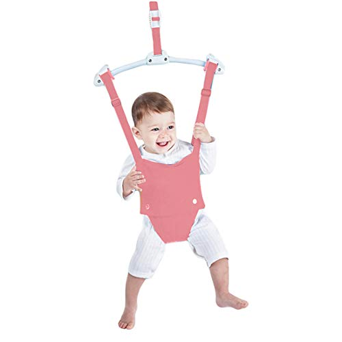 Creative Baby Door Jumper Set - Adjustable Toddler Baby Bouncer Baby Toys Baby Walker Swing (Pink)