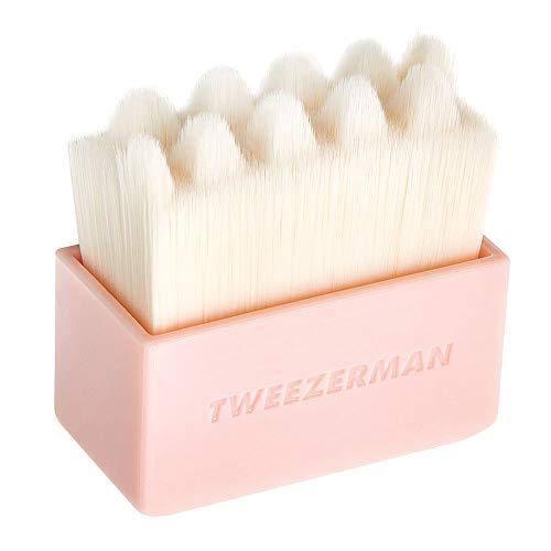 TWEEZERMAN Gesichtsbürste Dry Face Brush, Weiche Borsten zum Trockenen Reinigen und Massage, Rosa