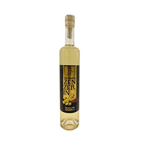 ZENZERIN Licor de jengibre artesanal, excelente para cócteles y postres, mixología, digestivo natural italiano, bebida alcohólica como limoncello 50 cl