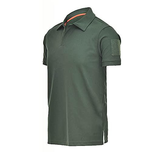 Camisas de hombre de manga corta slim fit casual verano polo cuello vuelto Camisetas secado rápido transpirable Running Jogging Fitness Deportes Golf Camping Tee Blusa Tops