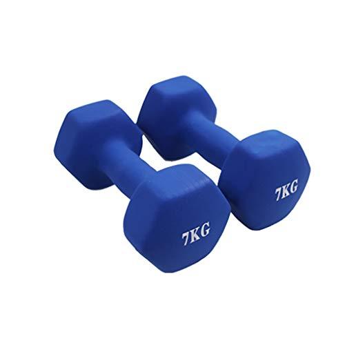 WYH Pesas Pesas de Gimnasia Pesas Pesas Sistemas Pesados con Barra Hexagonal de Goma Pesa de Gimnasia por el Ejercicio de pérdida de Peso de Entrenamiento Body Building Musculación
