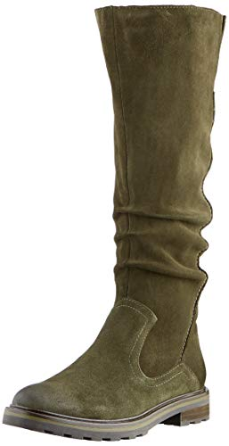 MARCO TOZZI Damen 2-2-25622-25 Wildleder Langschaftstiefel Kniehohe Stiefel, Khaki, 40 EU