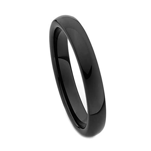 TWJC 4mm Round Tungsten Wedding Band - Size 10