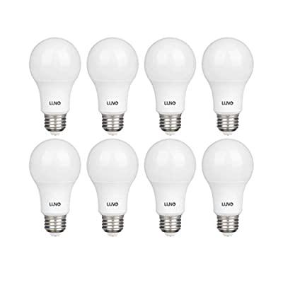 LUNO A19 Non-Dimmable LED Bulb, 9.0W (60W Equivalent), 800 Lumens, 4000K (Neutral White), Medium Base (E26), UL Certified (8-Pack)