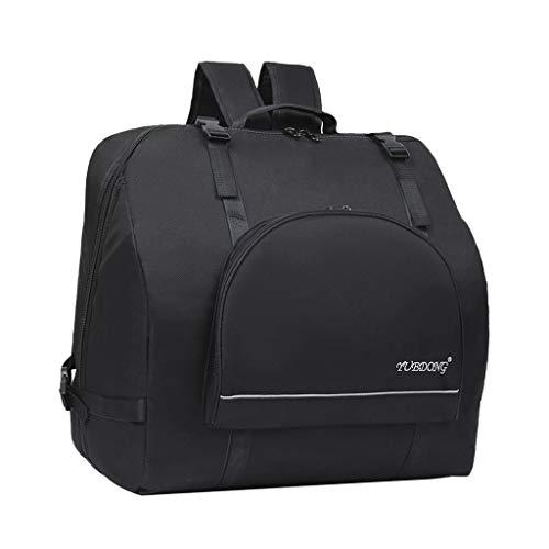 Almencla Nylon Oxford Akkordeon Rucksack Tasche Koffer Akkordeon Gig Bag für 60-120 Bass Akkordeon, Wasserdicht, Schwarz - 80-96 Bass