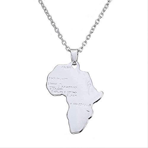BACKZY MXJP Halskette Hot Gold Silber Farbkarte Von Afrika Halskette Hip Hop Schmuck Großhandel Fabrik Direktvertrieb Halskette