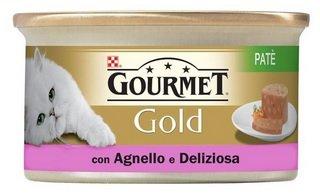 Purina Gourmet Gold Feuchte Katze Patè mit Lamm und Ente, 24 Dosen à 85 g, 24 x 85 g