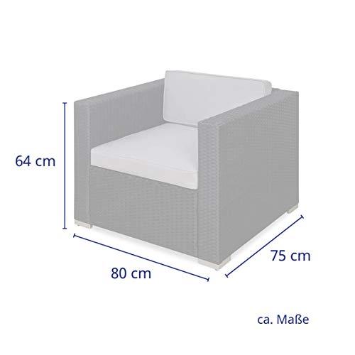 SVITA Sessel für Polyrattan Lounge Lugano/California Ergänzung Rattan (Schwarz) - 3