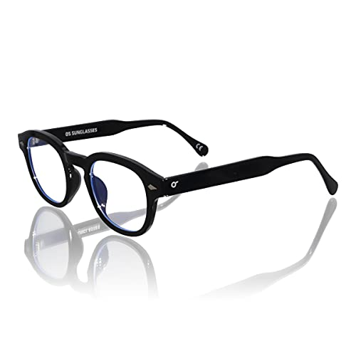 Generico Gafas antideslumbrantes estilo Moscot anti filtro luz azul azul para PC Gaming ordenador hombre mujer para reducir la fatiga visual – Indispensables para la oficina y el hogar – OS SUNGLASSES