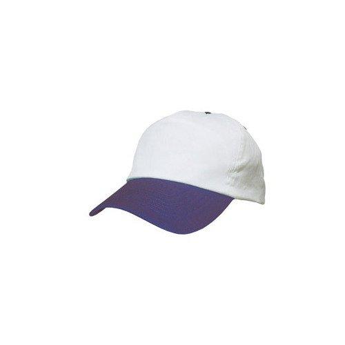 Casquette Baseball Retro Bicolore Blanc / Bleu Marine