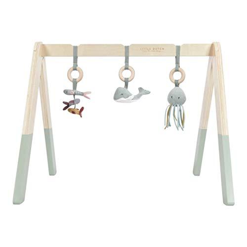 Little Dutch 4835 Holz Baby Gym Spieltrapez mint Stoff Anhängern Ocean mint 67,5x18x6,2 cm