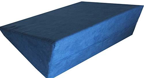 Stützendes Keilkissen für Bett oder Couch Schaumstoffkeil Lagerungshilfe Lagerungskissen Rückenstütze (blau)